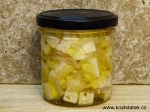 Kozí sýr v olivovém oleji-chilli